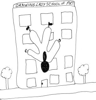 The Drawing Lady Takes the Plunge
