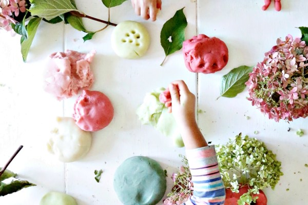 lizzie homemaker hydrangea inspired playdough
