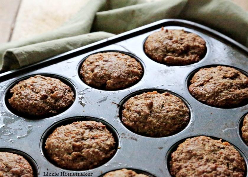 Lizzie Homemaker's Healthy Apple Cinnamon Sweet Potato Muffins