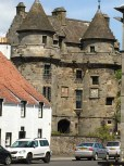 The village of Falkland, Fife where Outlander was filmed