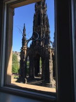 Sir Walter Scott's Memorial, taken from Jenner's window