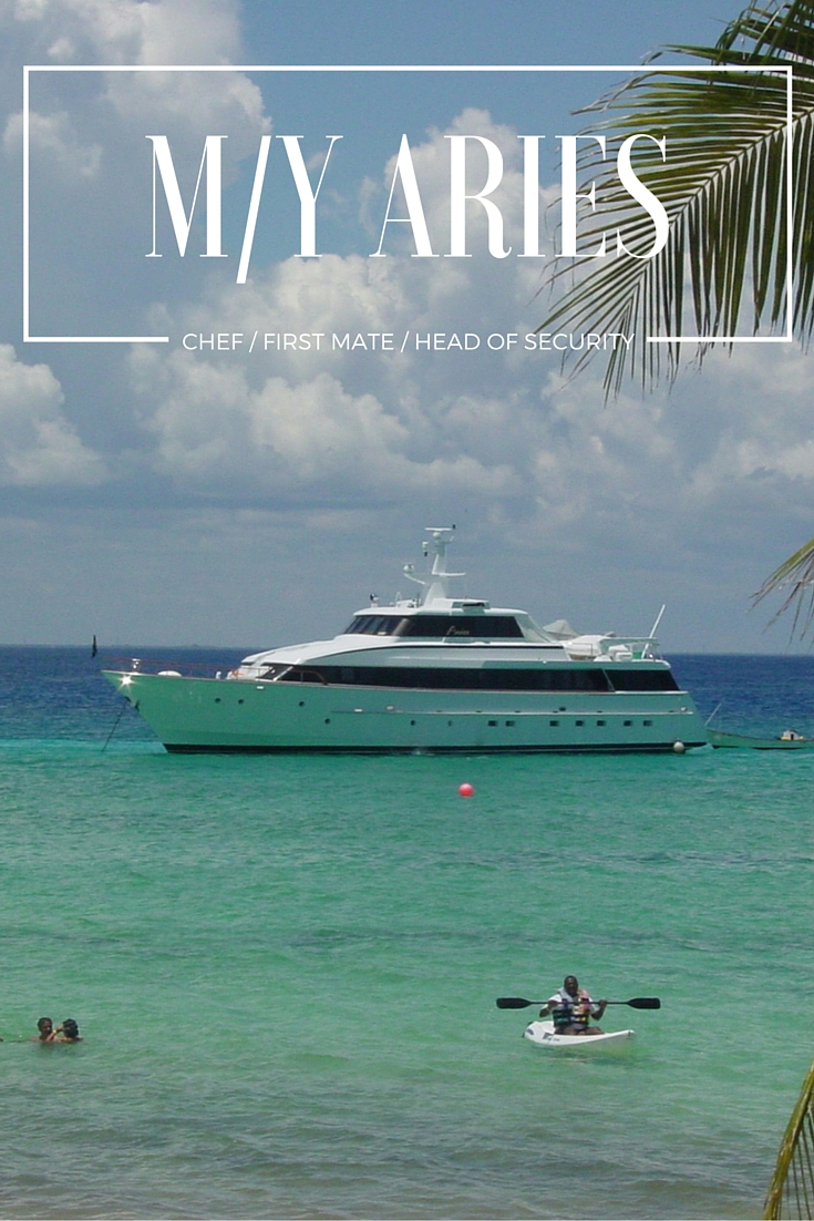 I spent years as a cook on boats and yachts in The Bahamas and Central America.