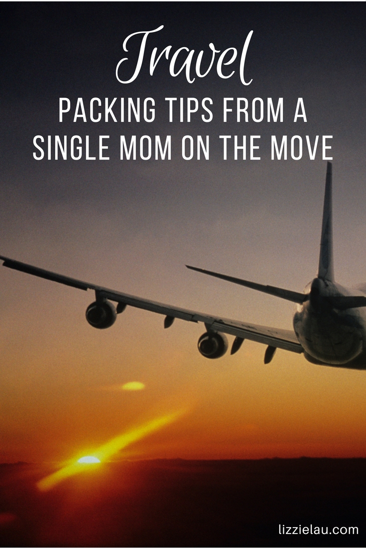 Travel packing tips from a single mom on the move. #travel #familytravel