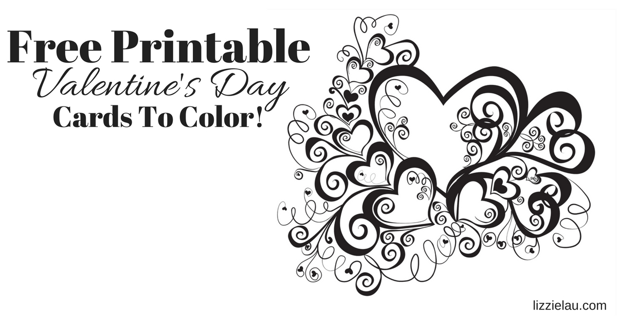 image regarding Printable Valentines Black and White named Absolutely free Printable Valentines Working day Playing cards