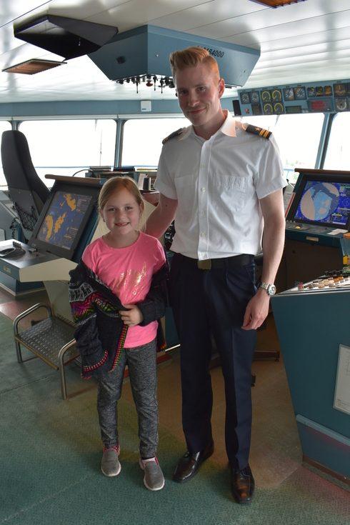 Silja Serenade bridge tour with officer