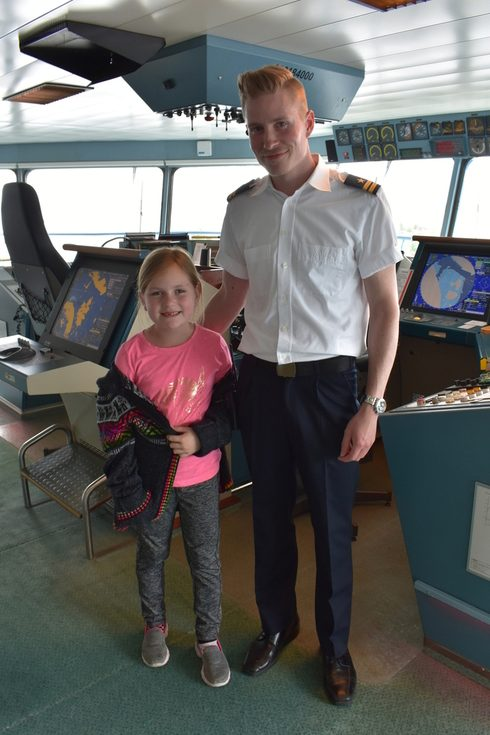Silja Serenade bridge tour with officer