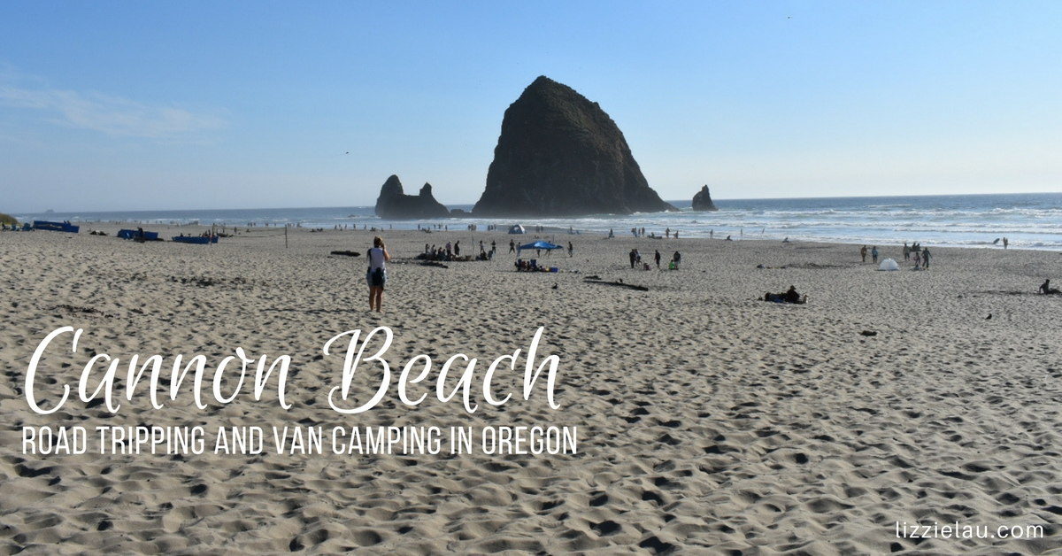 Cannon Beach road tripping and van camping in Oregon