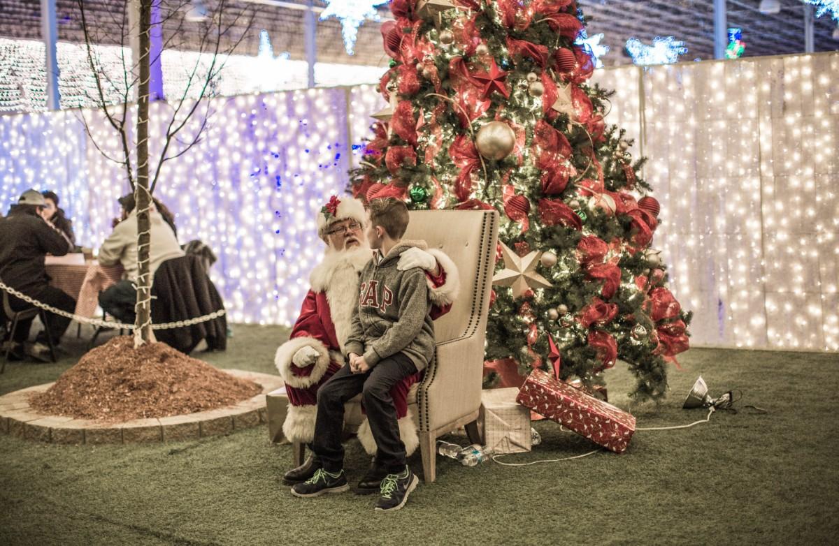 Christmas Glow in Langley Santa