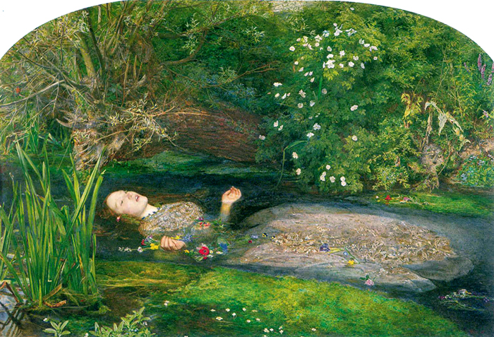 Ophelia, 1851-52, Oil on Canvas