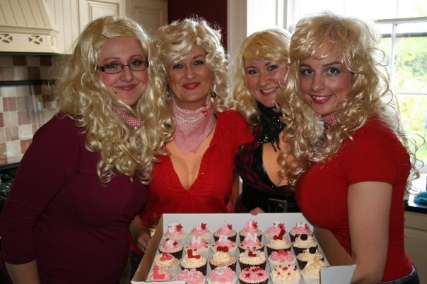 Dollys about to enjoy the cupcakes