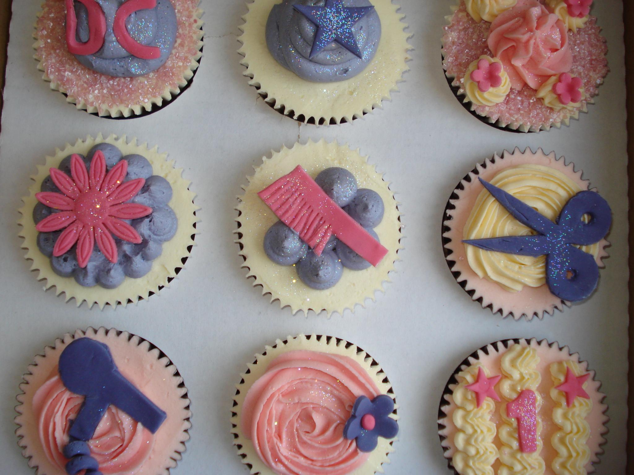 More hairsalon cupcakes