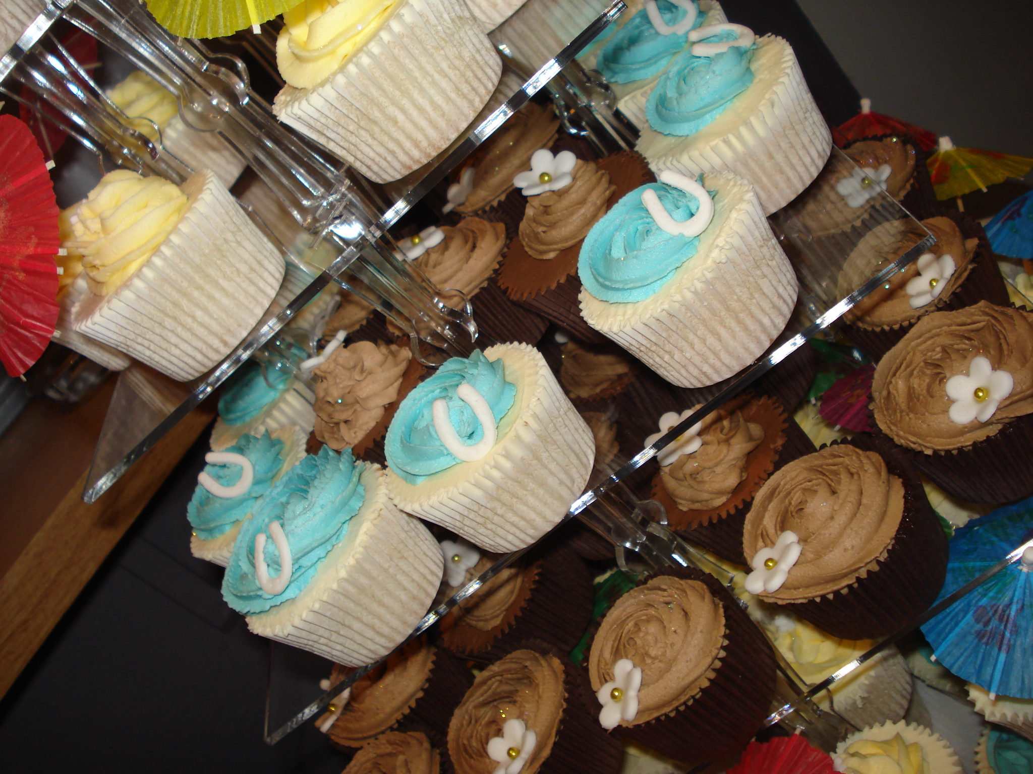 Horseshoes and chocolate cupcakes