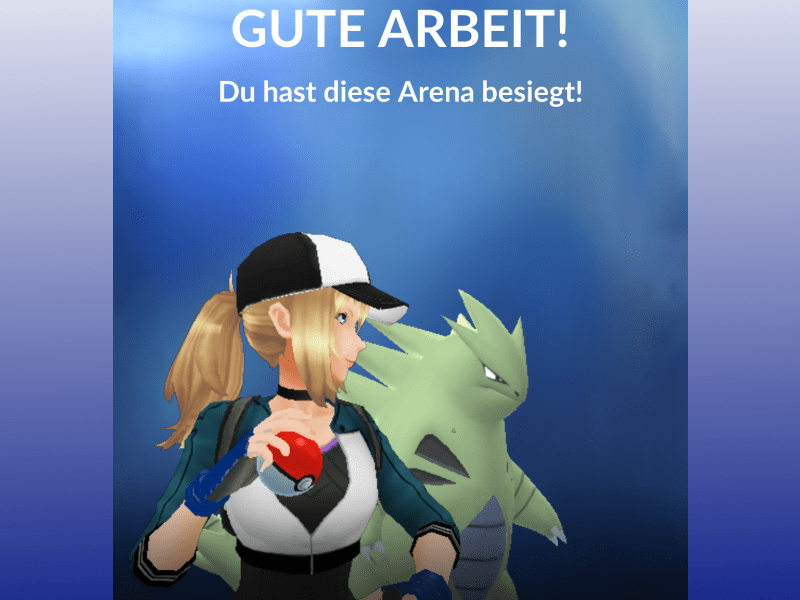 Screenshot: Arena besiegt