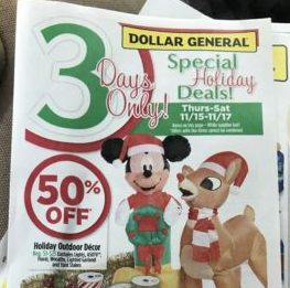 Dollar General 3-day Sale Event