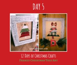 Make your own Christmas Tree Art decor