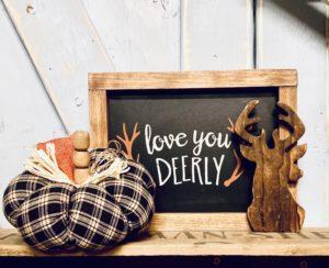 DIY Fabric Pumpkin with a Wooden Bead Stem