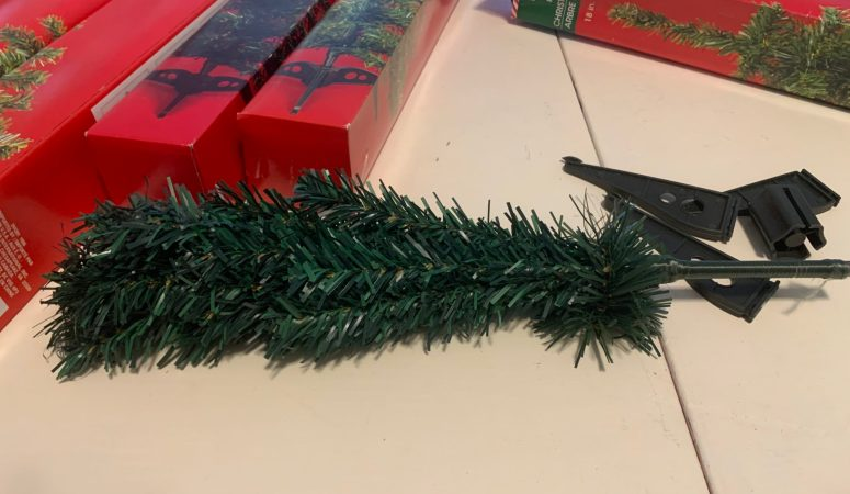 Dollar Tree Christmas Tree Snowflake Wreath DIY