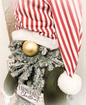 6 Foot Flocked Gnome Christmas Tree