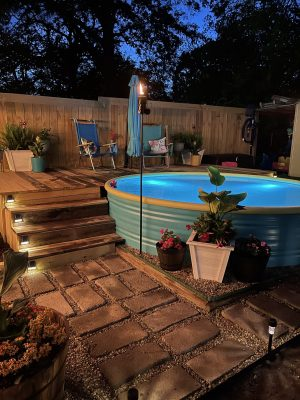 Summer Oasis and Stock Tank Pool Reveal