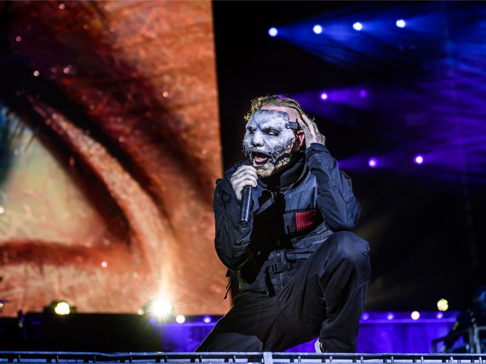Vocalist Corey Taylor performing with Slipknot at Chicago Open Air 2016. Lizzy Davis Photography