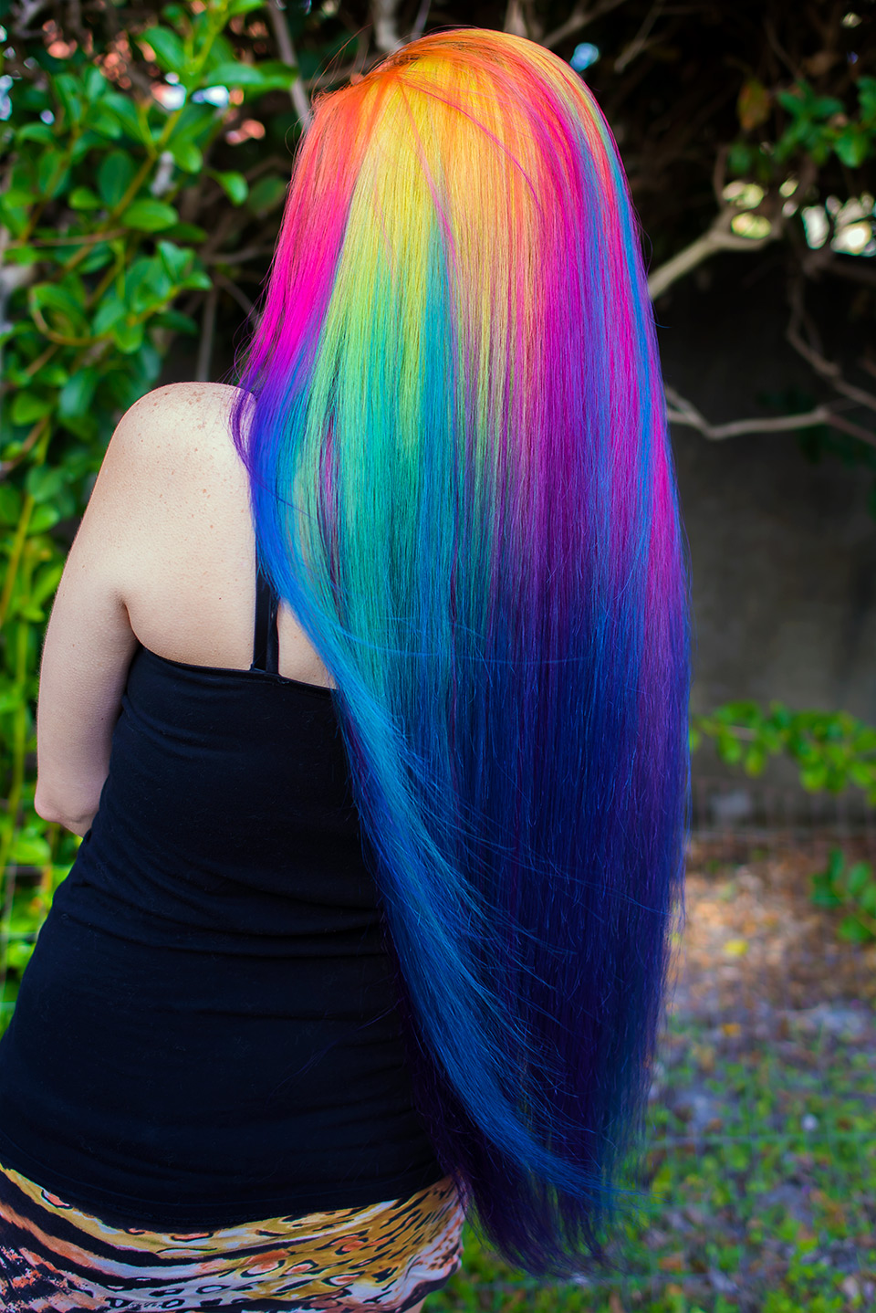 rainbow hair multi colored
