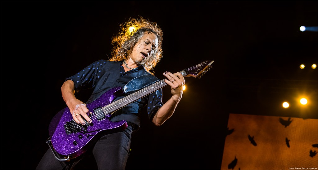 Lead guitarist of Metallica, Kirk Hammett at Rock on the Range. ©Lizzy Davis Photography