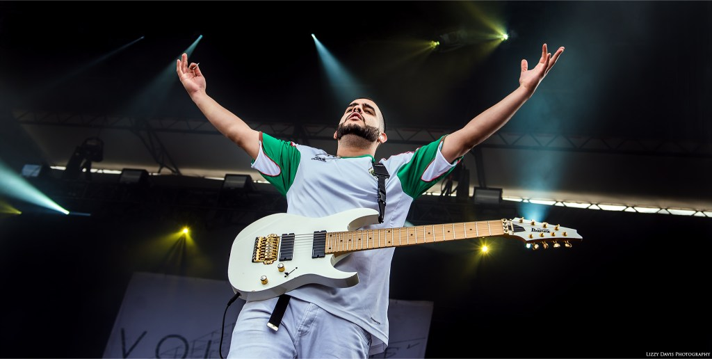 Diego Farias, guitarist of Volumes at Carolina Rebellion. ©Lizzy Davis Photography