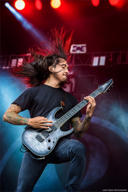 Of Mice & Men guitarist Phil Manansala. ©Lizzy Davis Photography