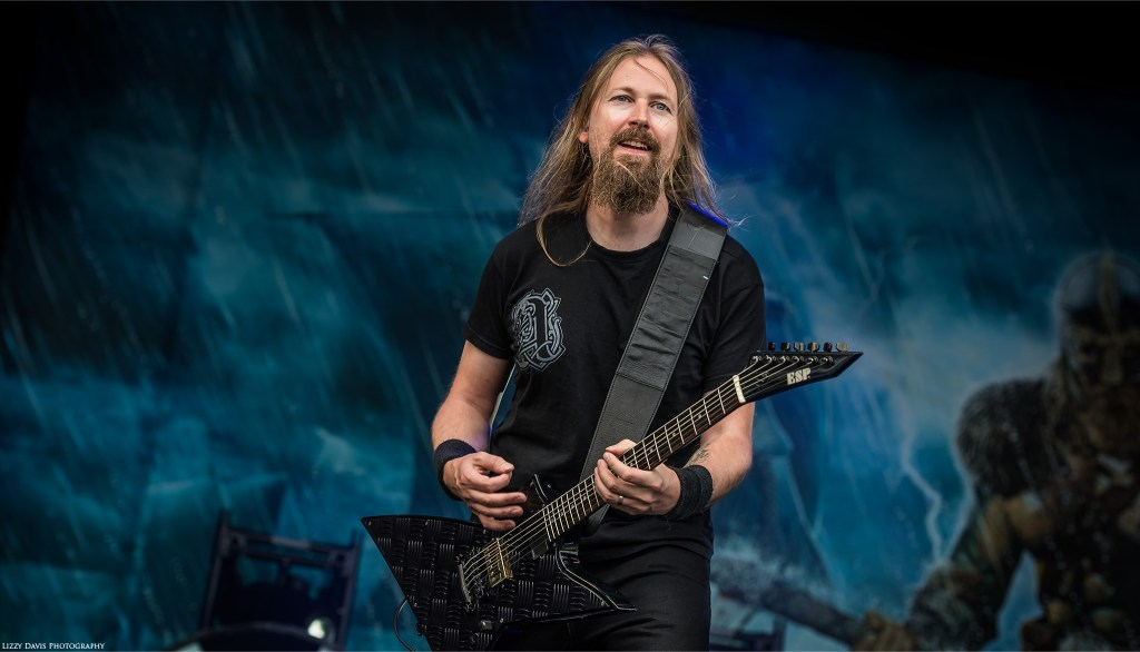Johan Soderberg, guitarist of Amon Amarth.