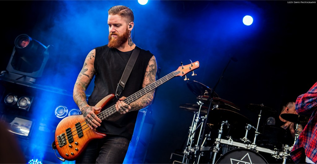 Current In Flames live bassist Bryce Paul. ©Lizzy Davis Photography