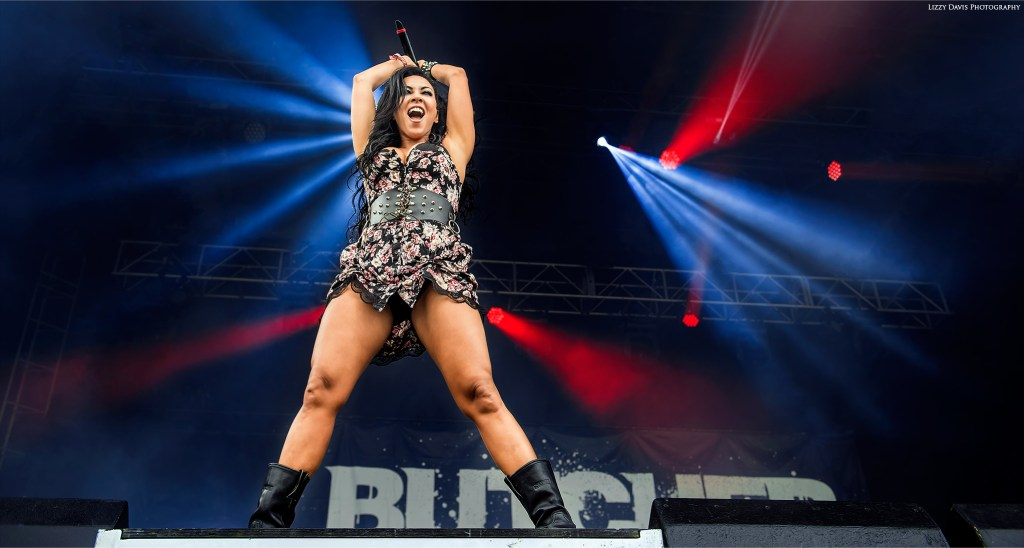 Butcher Babies vocalist Carla Harvey. Chicago Open Air 2016 photos by ©Lizzy Davis Photography.