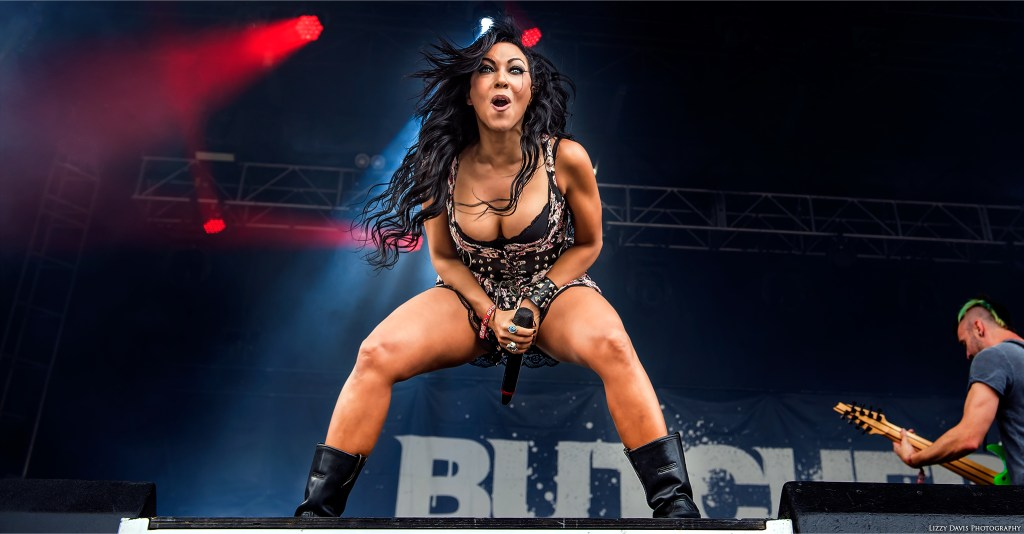 Carla Harvey of Butcher Babies live at Chicago Open Air 2016. ©Lizzy Davis Photography
