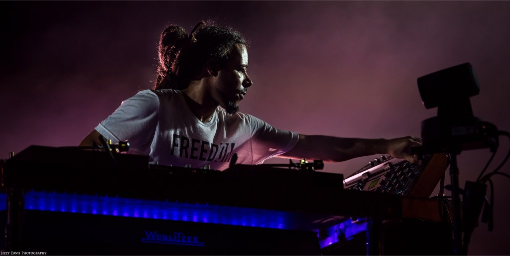 Turntables and keyboardist Chris Kilmore of Incubus. ©Lizzy Davis Photography