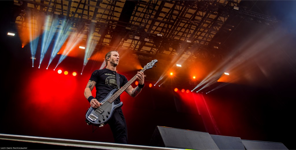 Brian Marshall, bassist of Alter Bridge. Carolina Rebellion photos by ©Lizzy Davis Photography.