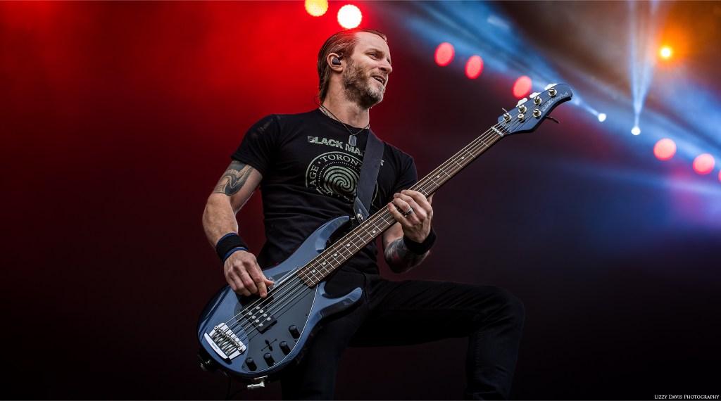 Bassist Brian Marshall with Alter Bridge at Carolina Rebellion. ©Lizzy Davis Photography