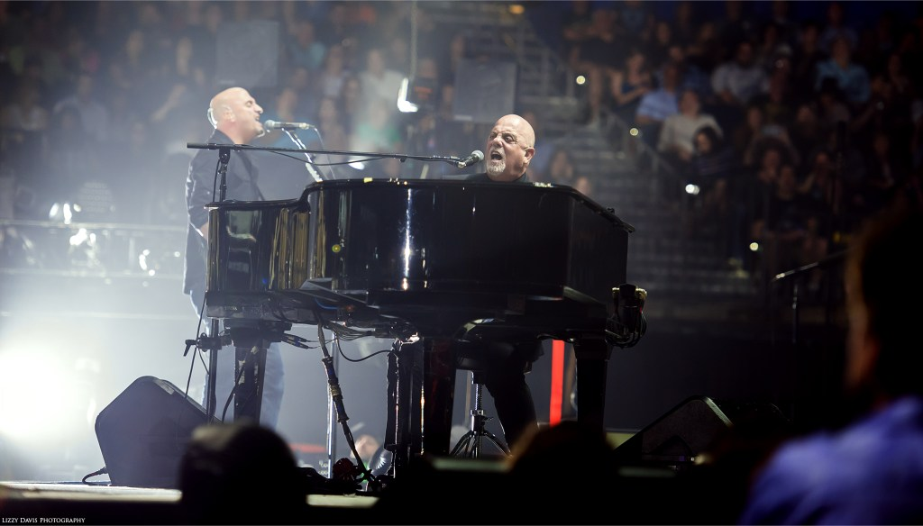 Billy Joel live in concert at Amalie Arena by Tampa music photographer Lizzy Davis.
