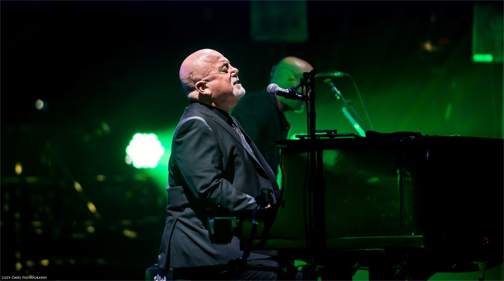 Billy Joel enjoying the moment and crowd at Amalie Arena. Tampa photos by Lizzy Davis.
