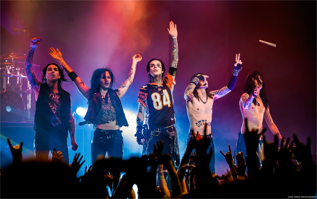 Black Veil Brides saying goodnight to their fans at The National in Richmond, VA.