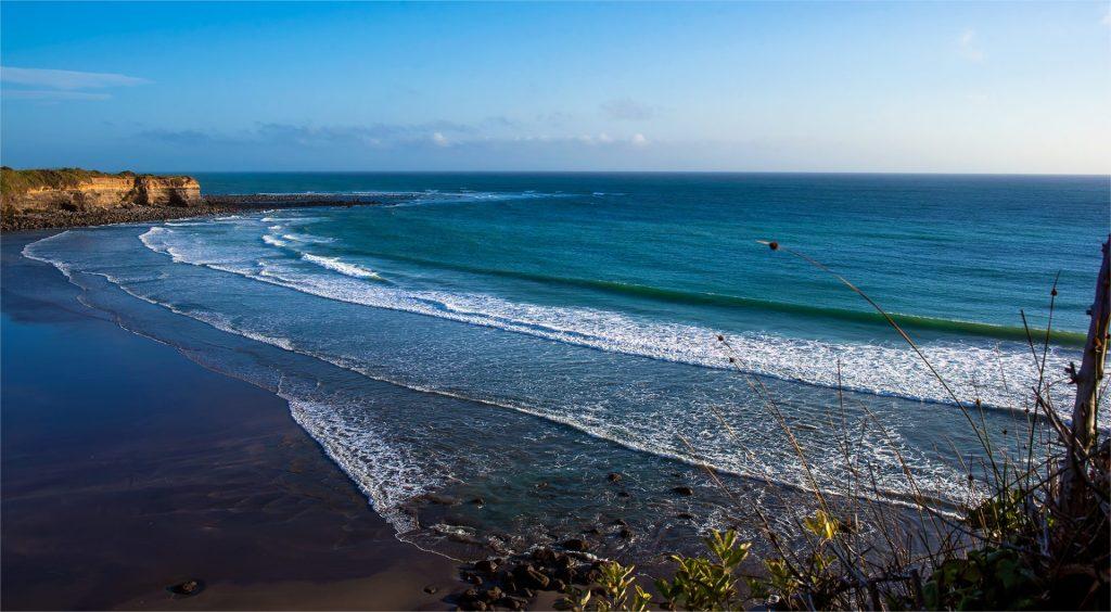 Overlooking Opunake Beach, New Zealand. | Travel photos by Lizzy Davis.
