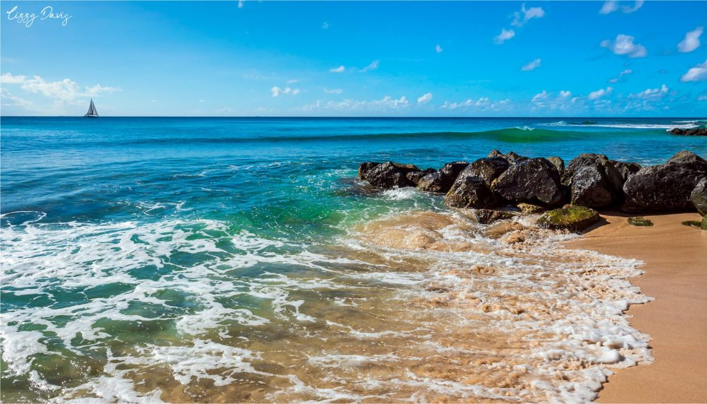 Photo of Colony Club Beach at the Caribbean Island of Barbados.