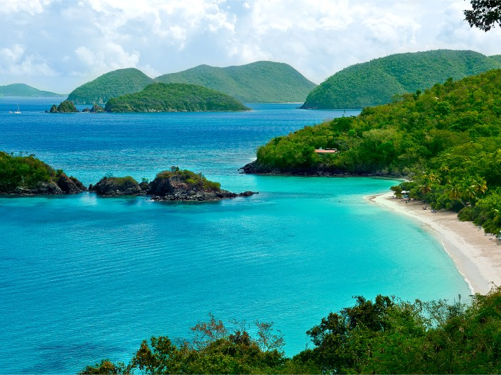Beach overlook at St. John, US Virgin Islands by Lizzy Davis Photography.