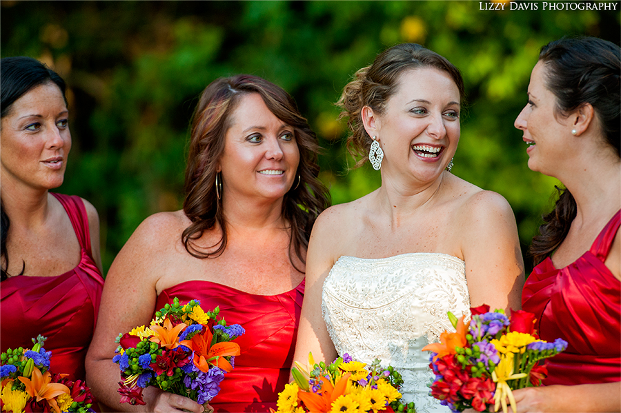 Candid bridesmaid portrait.