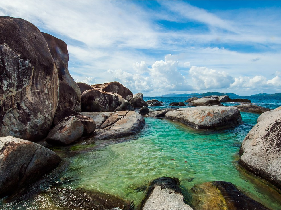 The stunning baths of Virgin Gorda, British Virgin Islands.