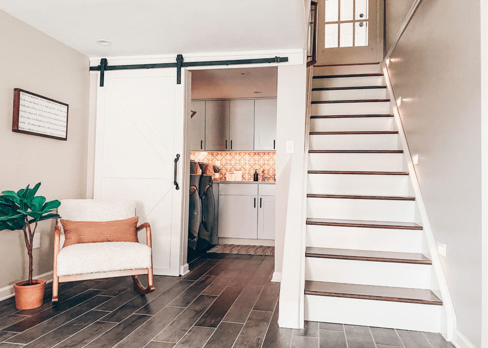 You won't regret putting in a barn door in the basement.