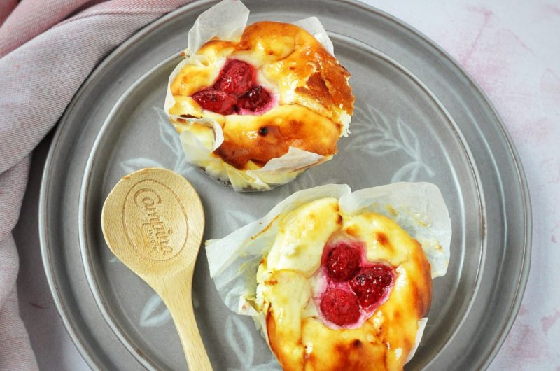 Mini cheesecake' jes met frambozen