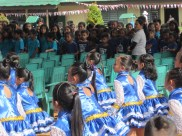 Students performing a dance at the event