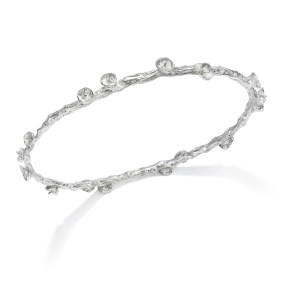 Silver Palm Fruit Bangle- LJD jewelry designs by Laura Jackowski-Dickson
