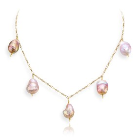 Fresh Water Pearl Necklace P-116- LJD Designs, Laura Jackowski-Dickson