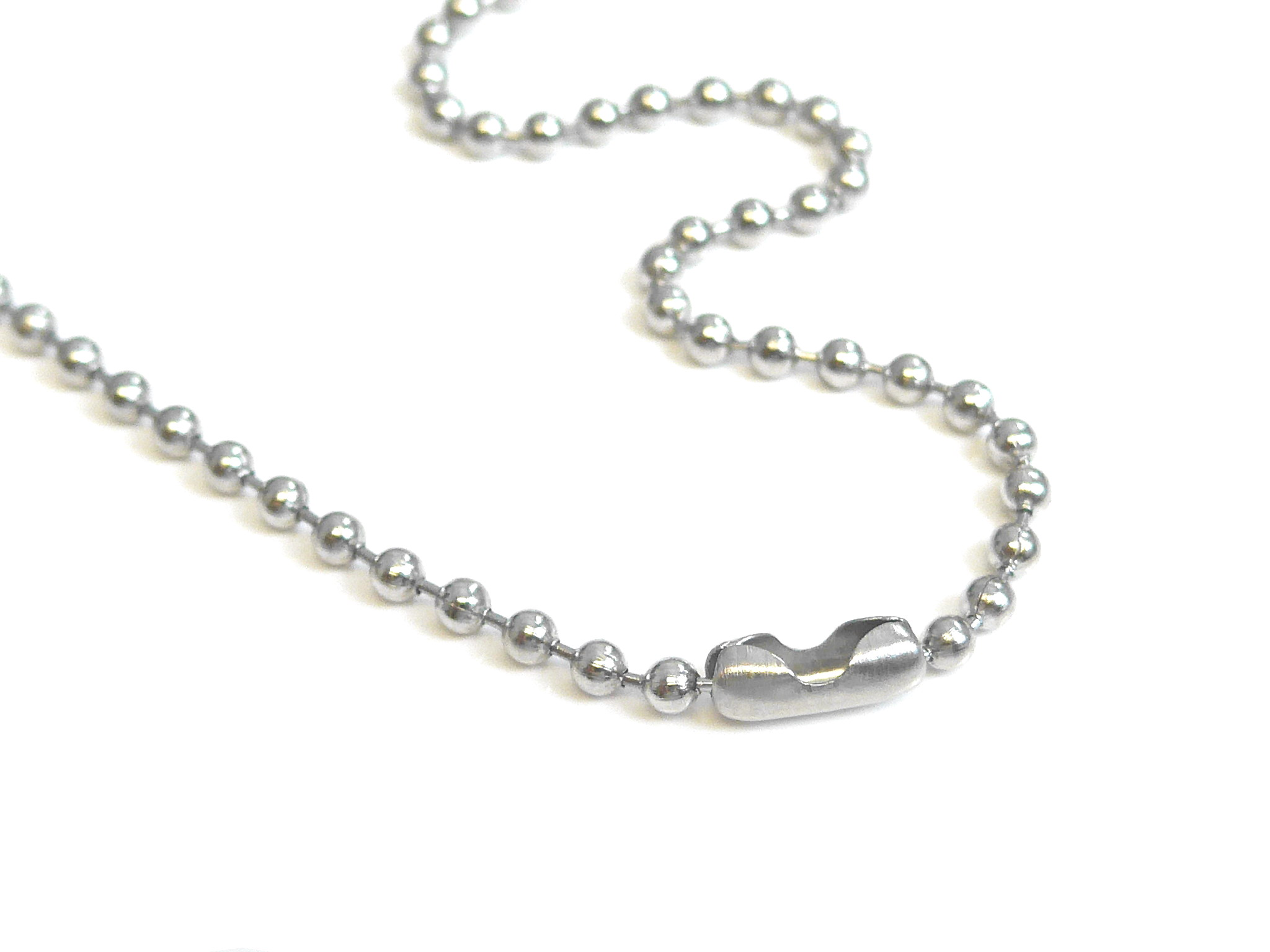 Stainless Steel Ball Chain Necklace 30 Inches 2.4mm Size
