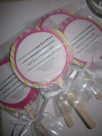 DIY Lollipop Birthday Invites